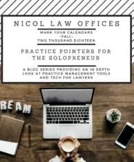 solo practice; solo attorney; practice pointers; technology; law; solopreneur