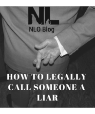 How to Legally Call Someone a Liar; Witness Credibility; Fingers Crossed; NLO Blog
