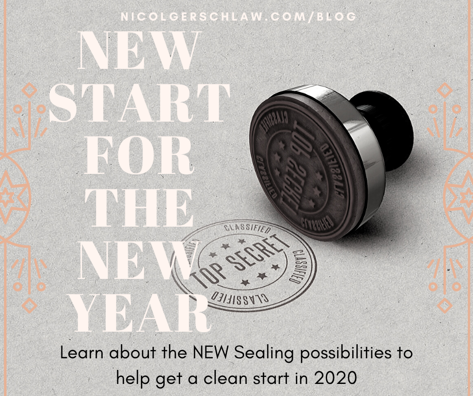 New Start for the New Year; Learn About the New Sealing Possibilities To Help Get a Clean Start in 2020; Nicol Gersch Petterson Blog; Top Secret Stamp; Confidentiality