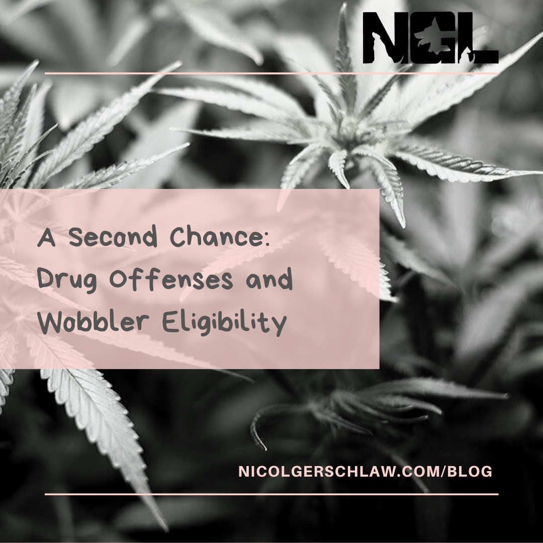 A second chance drug offenses and wobbler eligibility