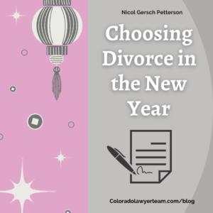 Choosing Divorce in the New Year