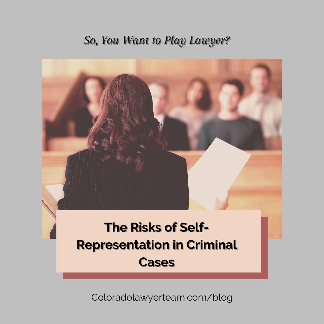 Risks of Self-Representation