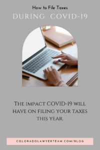 Filing Taxes During COVID-19
